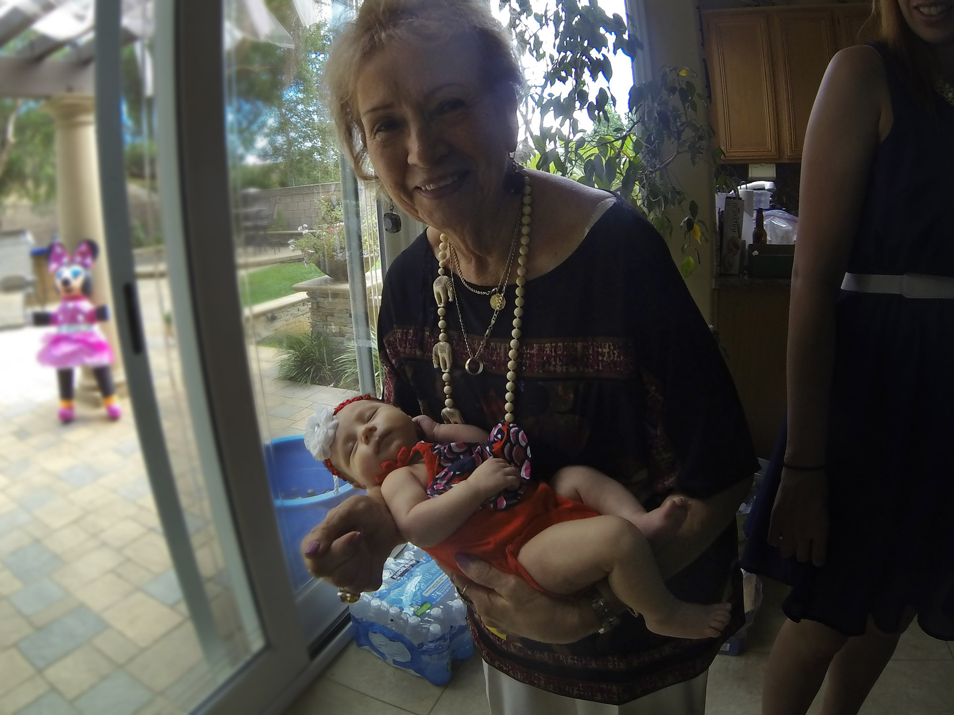 Sheila Zucman holds baby Lianna, 31 days old, at Victor & Alicia Vargas home in Chino Hills