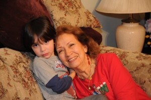 Domenic and I at the Islas family Christmas party.