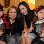 Mia, Sheila, Andrea & Sophia at Perez Family Christmas Eve 2013 party at Licha & Victor Vargas home