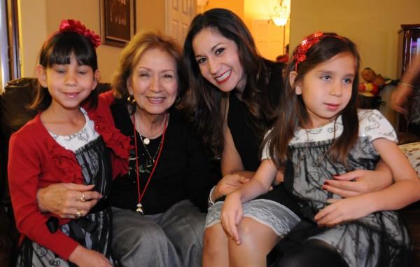 Mia, Sheila, Andrea & Sophia at Perez Family Christmas Eve 2013 party at Licha & Victor Vargas home